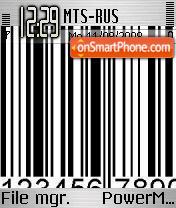 Barcode theme screenshot