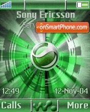 Sony Ericsson Logo es el tema de pantalla