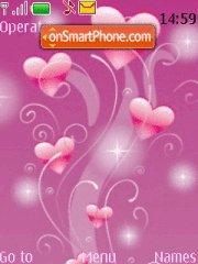 Pink Hearts 01 tema screenshot