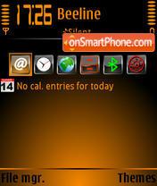Orangeblack 3rd theme screenshot
