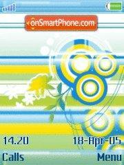 Yellow N Blue Swirls theme screenshot