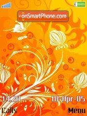 Orangel Floral es el tema de pantalla