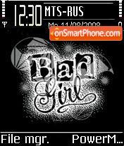 Bad Girl tema screenshot