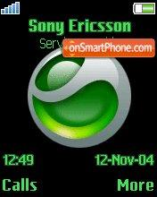 Sony Ericsson Green theme screenshot