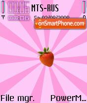 Скриншот темы Strawberry Pinky