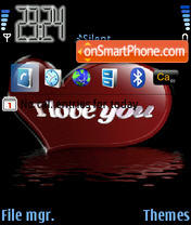 I Love You Animated 02 theme screenshot