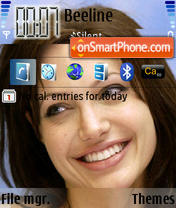 Angelina Jolie theme screenshot