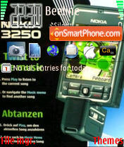 Nokia 3250 theme screenshot