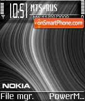 Nokia Black Curves v2 tema screenshot