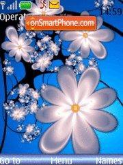 Abstract Blue Flower theme screenshot