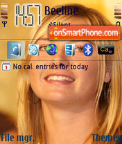 Maria Sharapova theme screenshot