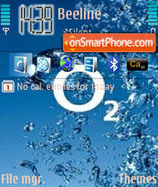 O2 theme screenshot