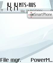 Frost Nokia theme screenshot