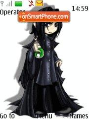 Severus Snape Anime Style theme screenshot