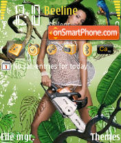 Girl In Green theme screenshot