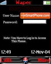 Password theme screenshot