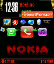 Anim. Nokia theme screenshot