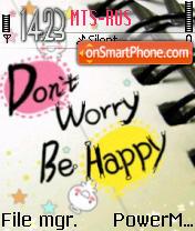 Be Happy tema screenshot
