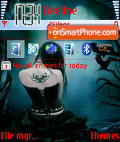 Shedownight tema screenshot