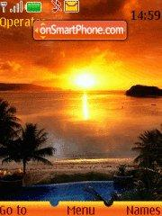 Sunset theme screenshot