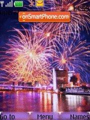 Capture d'écran Fireworks thème