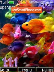 Green Fish clock es el tema de pantalla
