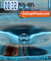 Waterdrop es el tema de pantalla
