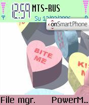 Love Hearts theme screenshot