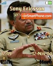 General Perwez Musharraf es el tema de pantalla