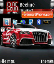 Audi A3 TDI theme screenshot