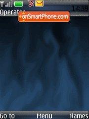 Abstract Blue Flame es el tema de pantalla