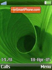 Скриншот темы IPhone - Leaf Curl
