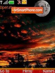 Dark Sunset theme screenshot