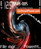 Distorted Nokia 010 tema screenshot