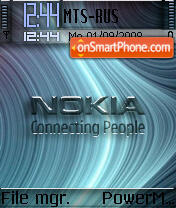 Nokia Curves 2 tema screenshot