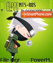 Chibi Kakashi theme screenshot