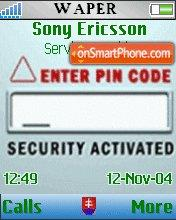 Enter Pin Code theme screenshot