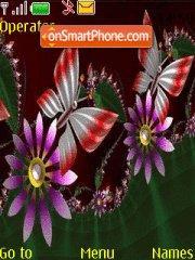 Скриншот темы Butterfly Neon