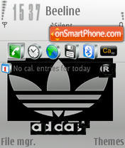 Silver Adidas theme screenshot