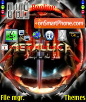 Metallica Shvets Dizel theme screenshot