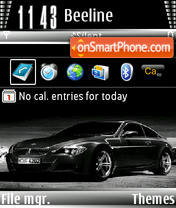 BMW black theme screenshot