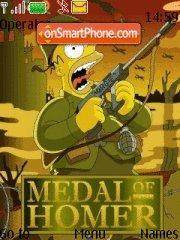 Скриншот темы Medal Of Homer 01