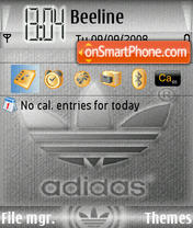Adidas S60 v.1 theme screenshot