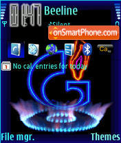 Gazprom theme screenshot