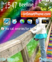 Rainbow 01 theme screenshot