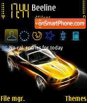 Скриншот темы Glowing Cars yI