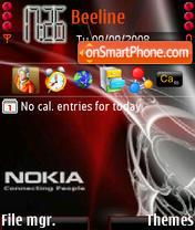 Скриншот темы Red Nokia