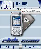 Club Nokia 6680 theme screenshot