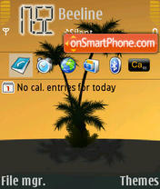 The Palm theme screenshot