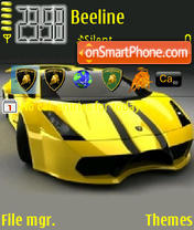 Lamborghini Gallardo theme screenshot